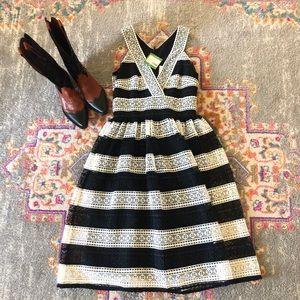 Kate Spade Black & White lace dress 00 NWT